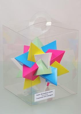 """Модель многогранника """"Соединение пяти тетраэдров"""""""