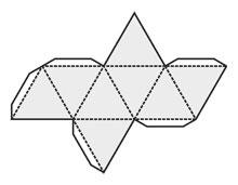 схема как сделать октаэдр из бумаги
