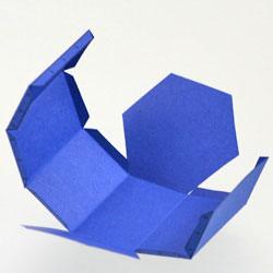 Как сделать из бумаги треугольную призму схема
